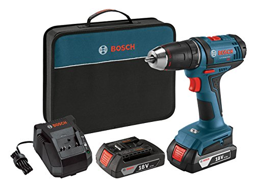 Bosch Power Tools Drill Driver Kit DDB181-02 - 18V Cordless Drill/Driver Tool Set with 2 Lithium Ion...