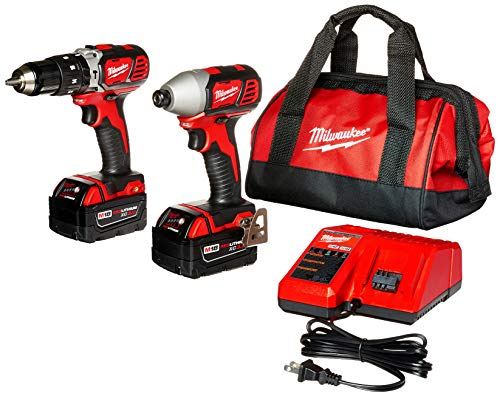 MILWAUKEE'S 2697-22 M18 18-Volt 1/2-Inch 2-Tool Combo Kit Includes Charger, Battery (2) and Bag