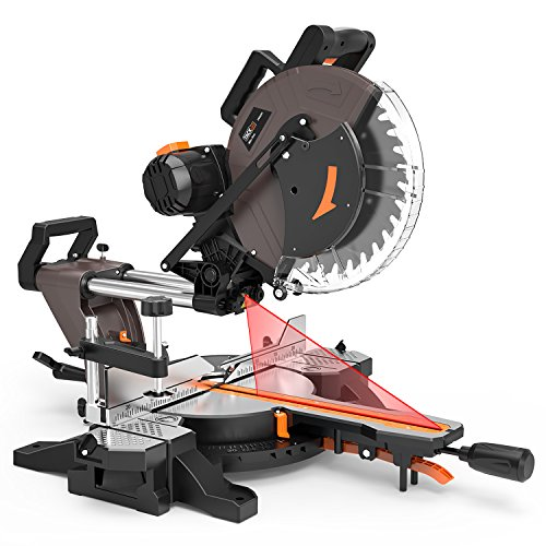 Compound Miter Saw, TACKLIFE 12-Inch Double Sliding Miter Saw With 15 Amp Motor, Double-Bevel...