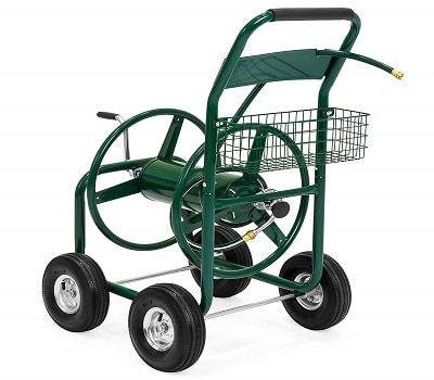 Best Choice Products 300ft Water Hose Reel Cart
