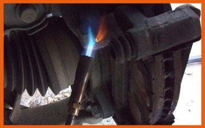 Heat the Stripped bolt