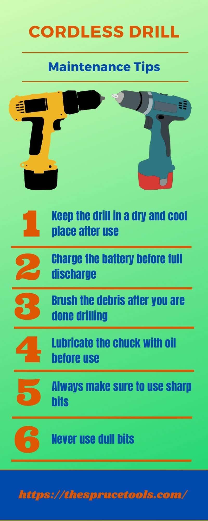 Cordless Drill Maintenance Tips